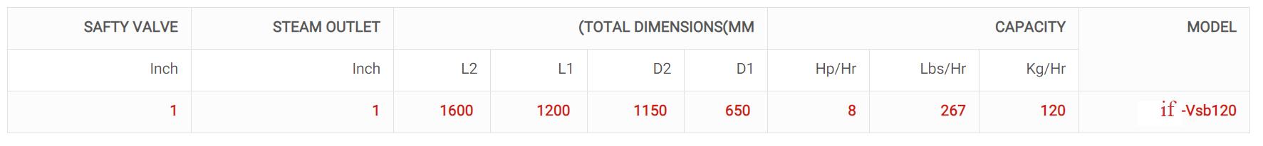دیگ بخار عمودی مدلif-Vsb120